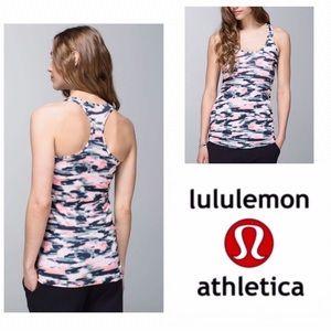 Lululemon Pink & Black Wamo Camo Racerback Tank
